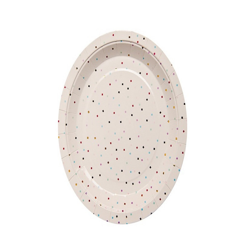 TINY SQUARE CONFETTI <BR>PLATES (10 pack)