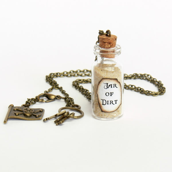 "PIRATE ""JAR OF DIRT"" NECKLACE"