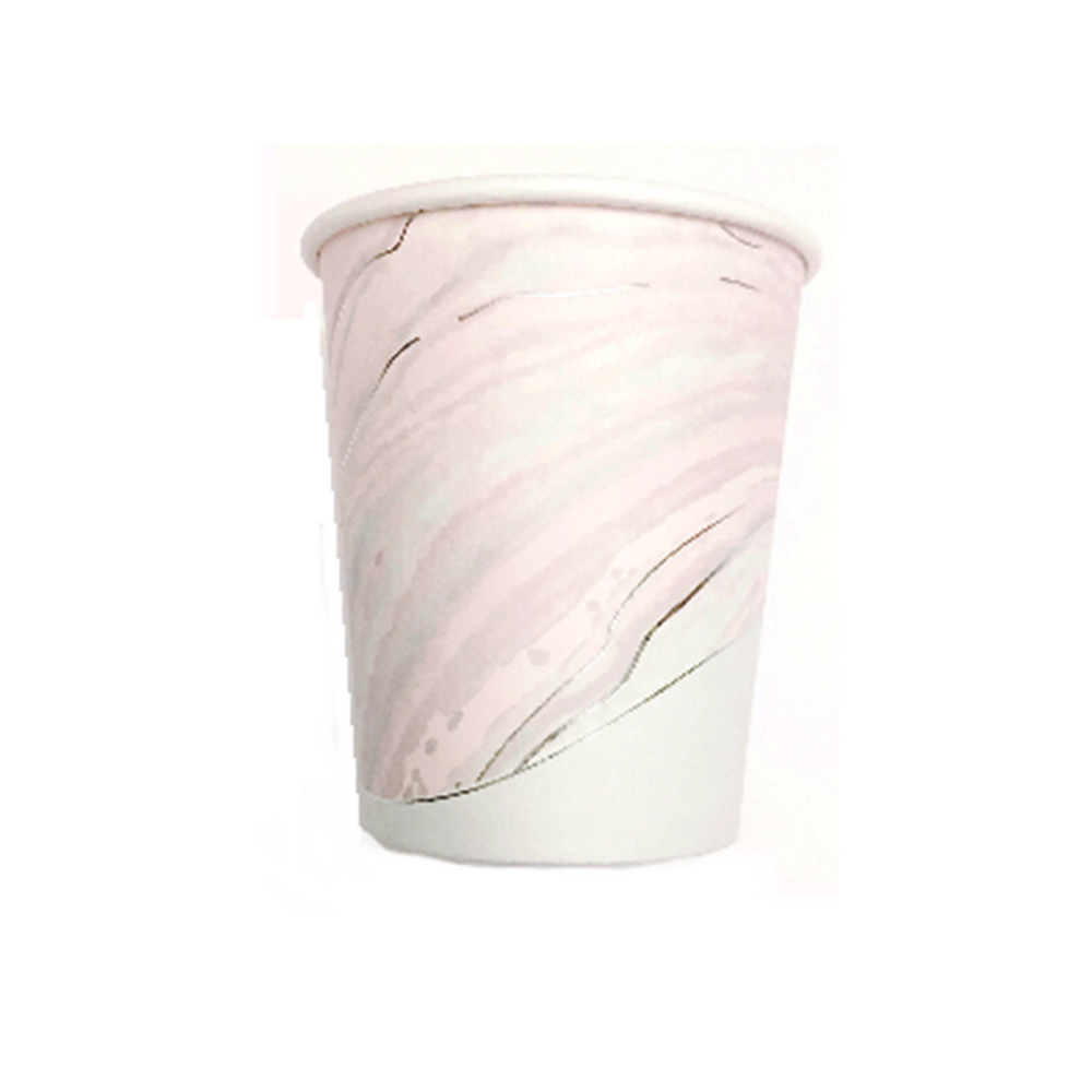 UNICORN MARBLE <br> SILVER FOIL CUPS (8 pack)