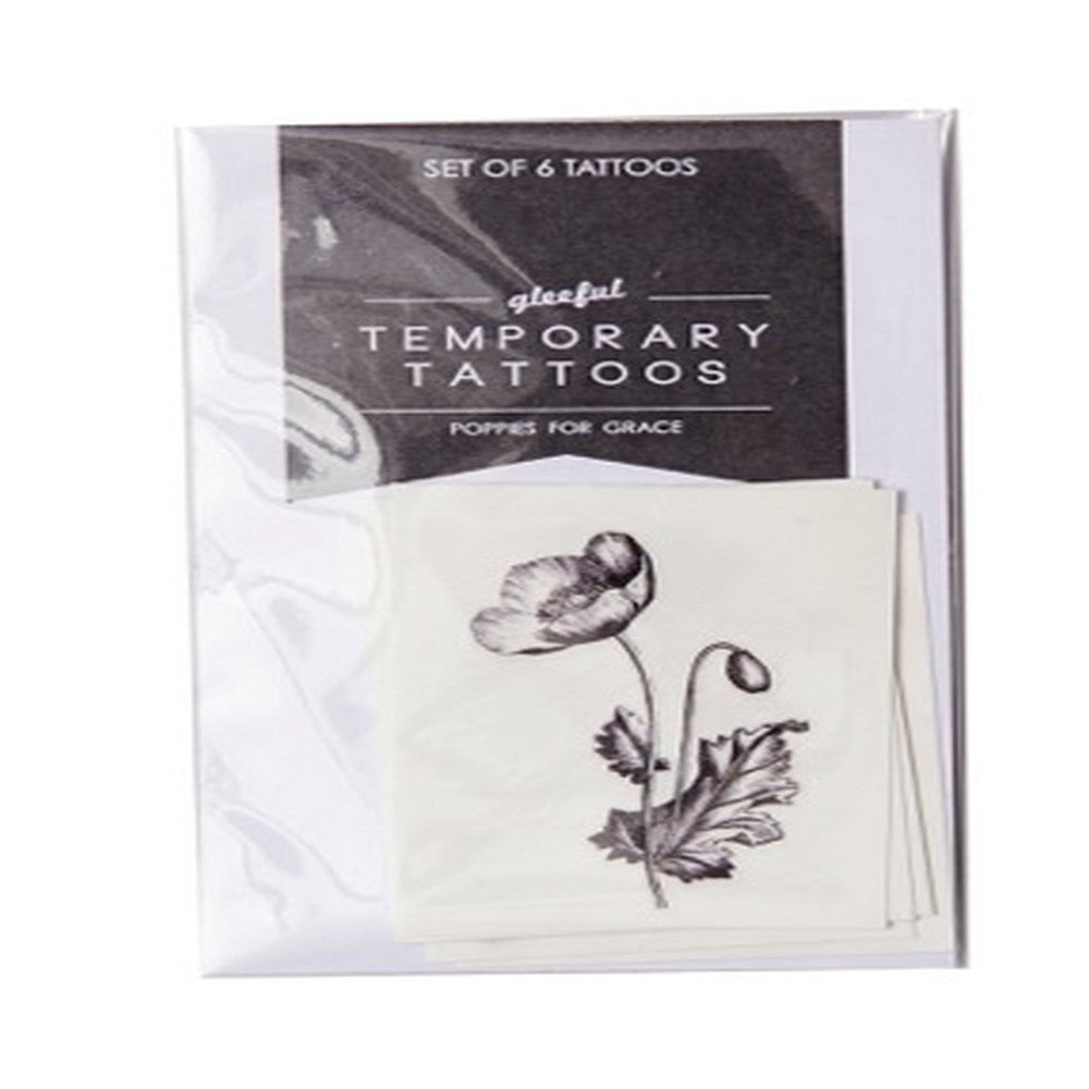 gleeful tattoos 6 pack