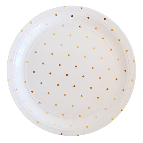 GOLD DOTS\u003cBR\u003eLARGE PLATES ...  sc 1 st  The Little Event Company & Disposable Party Plates Online | Scalloped Paper Plates \u2013 The Little ...
