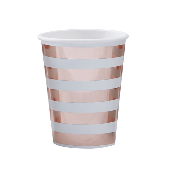 "MINT & ROSE GOLD ""HELLO WORLD"" CUPS (8 pack)"