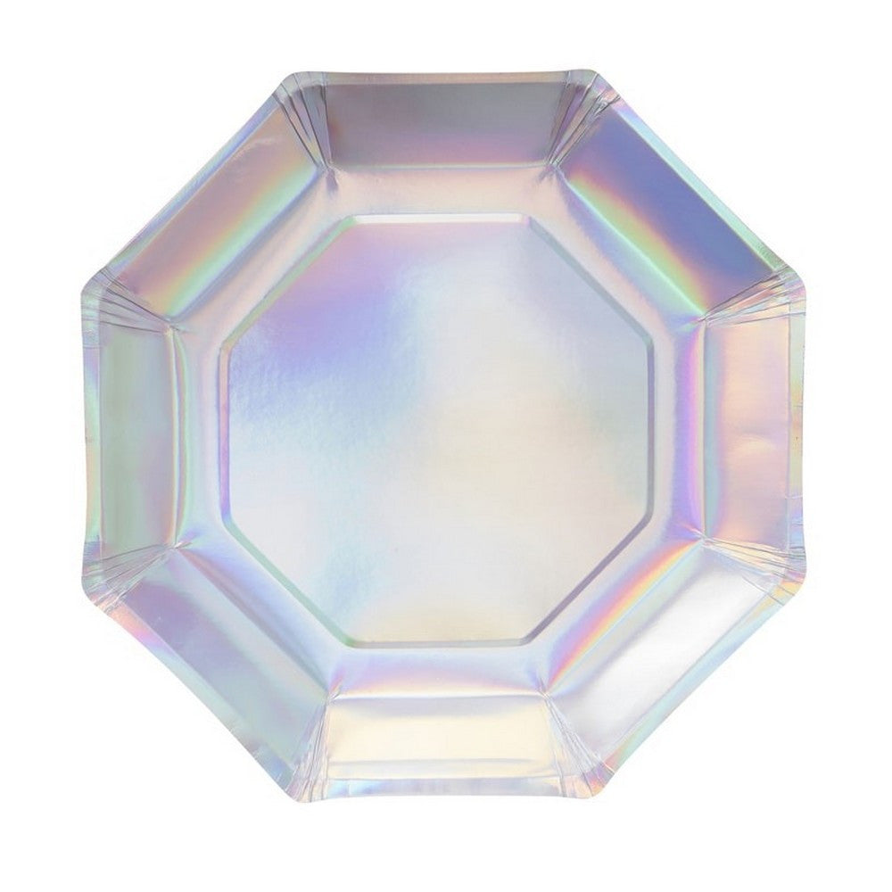IRIDESCENT PARTY PLATES <br>(8 pack)