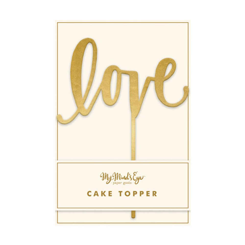 'LOVE' FANCY CAKE TOPPER