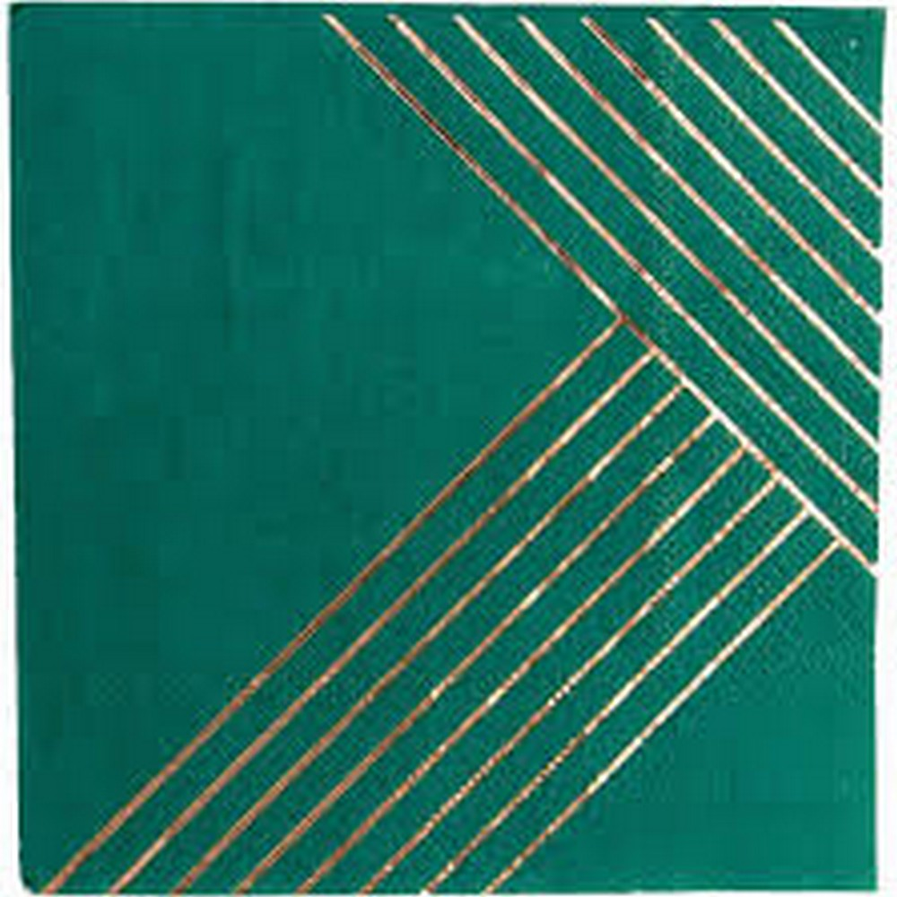 MANHATTAN STRIPED<BR>COCKTAIL NAPKINS (20 pack)