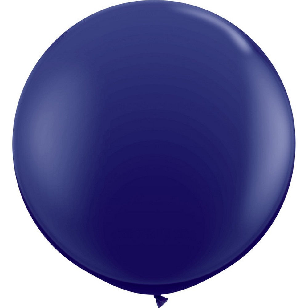 NAVY BLUE GIANT BALLOONS <br>90CM (2 pack)