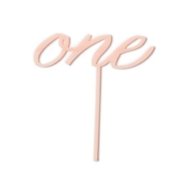 "PINK ""ONE"" CAKE TOPPER"