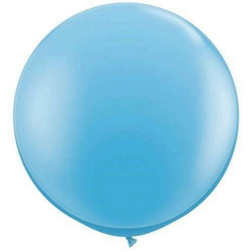 PALE BLUE GIANT BALLOONS<BR> 90CM (2 pack)
