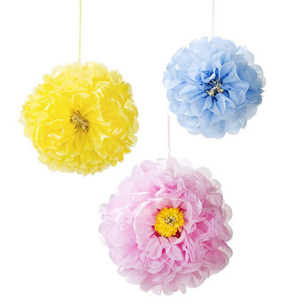 PASTEL FLOWER<BR>POMPOM MIX (3 pack)