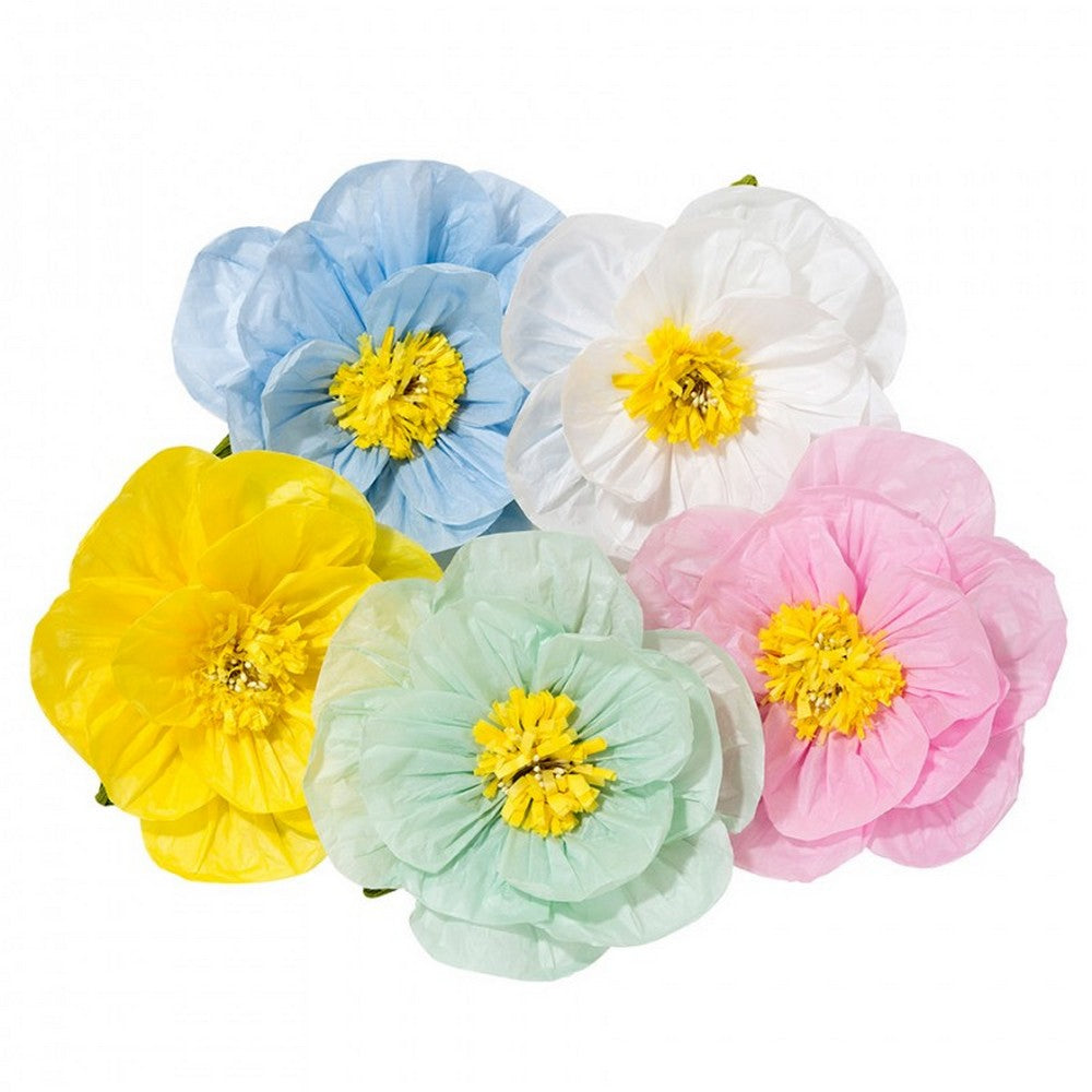 PASTEL FLOWER POPPIES<BR>MIX (6 pieces)