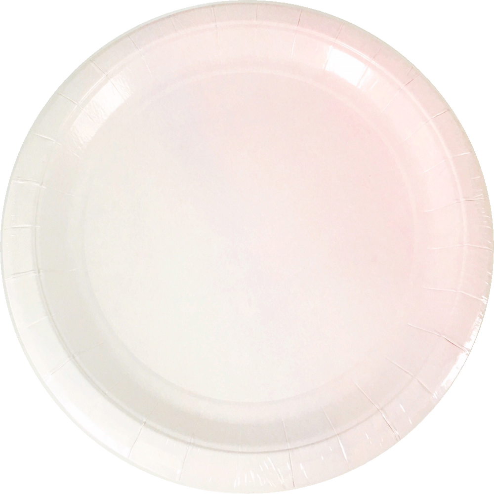 BLUSH OMBRE <BR> LARGE PLATES (8 pack)