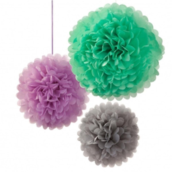 MACAROON POMPOM MIX (3 pack)