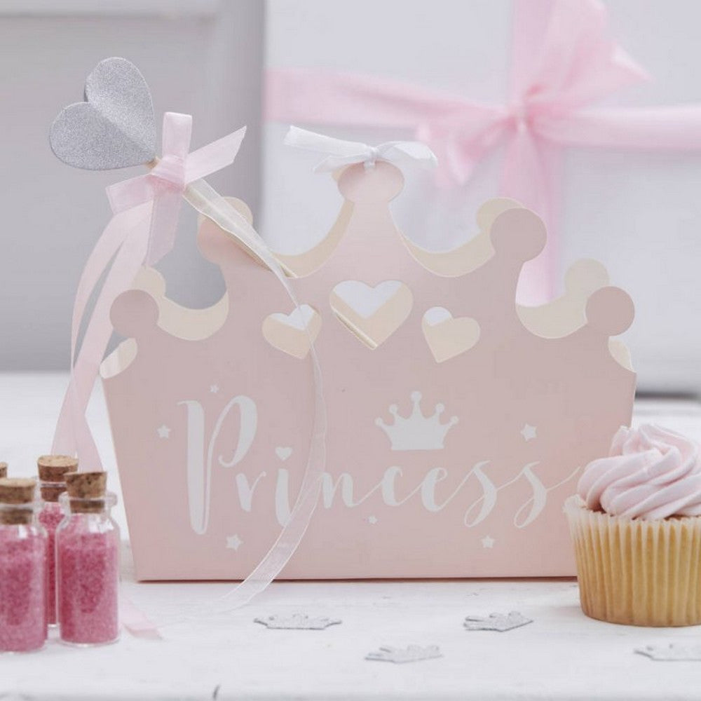 PRINCESS CROWN PARTY BOXES (5 pack)