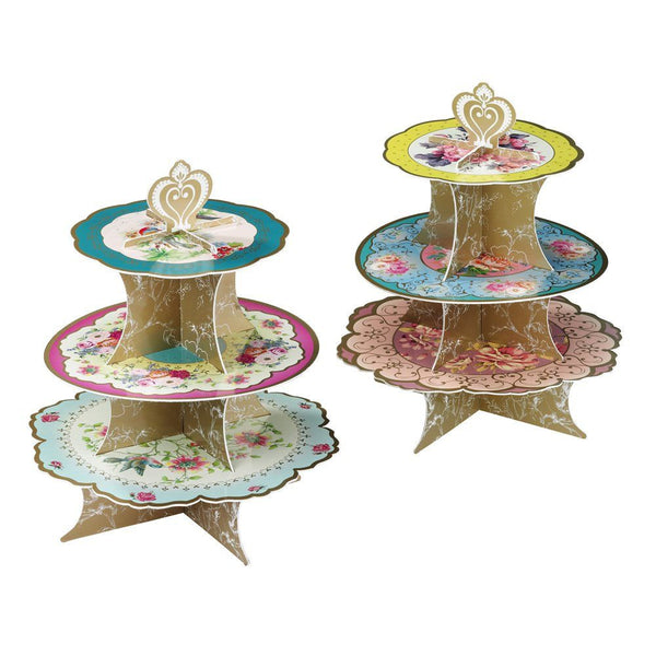 THREE TIER<BR>CAKE STAND