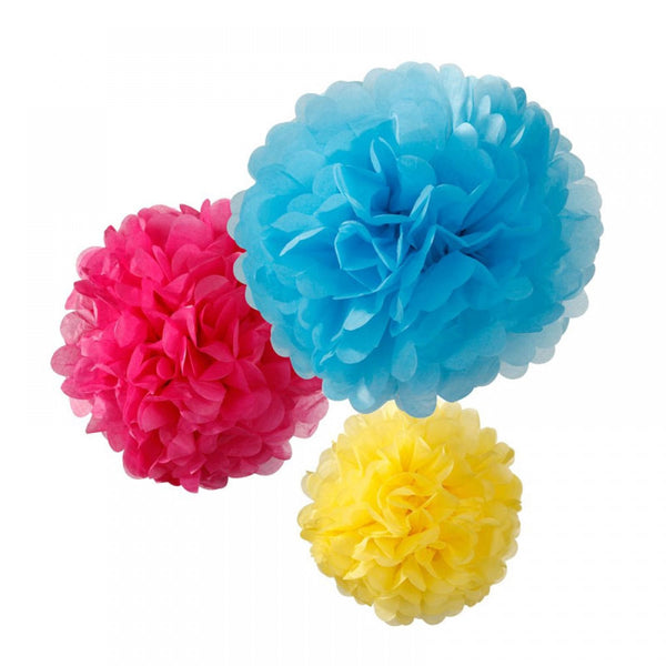 BRIGHT POMPOM MIX <BR>(3 pack)
