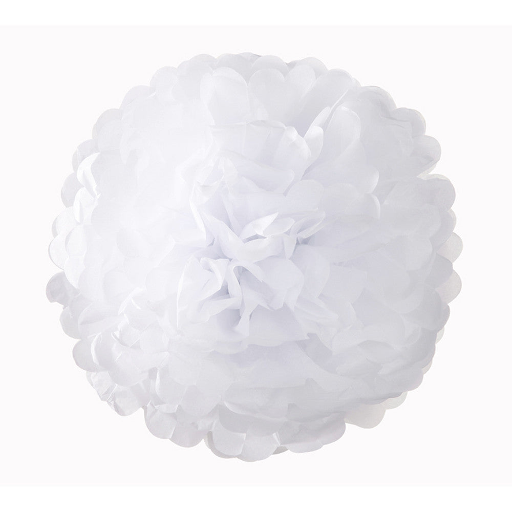 WHITE POMPOM MIX <BR>(3 pack)