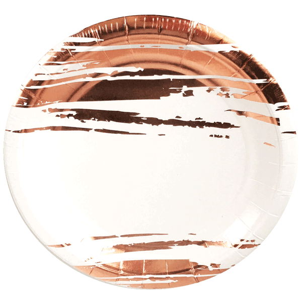 ROSE GOLD BRUSH STROKE <br> SMALL PLATES (8 pack)