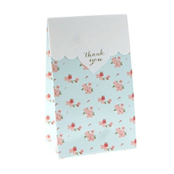 BLUE FLORAL<BR>TREAT BAGS (12 pack)