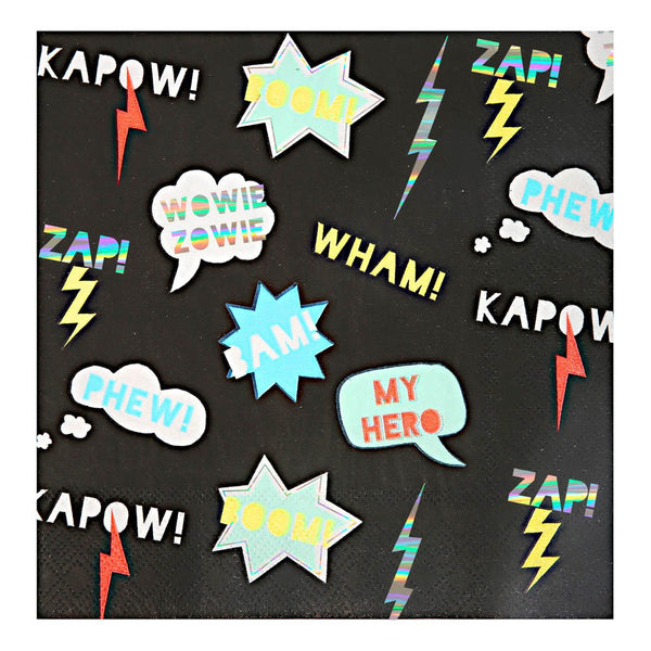 WHAMKAPOW<BR> LARGE NAPKINS (16 pack)