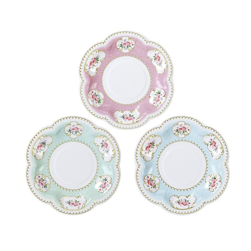 TRULY CHINTZ<BR>CANAPE PLATES (12 pack)