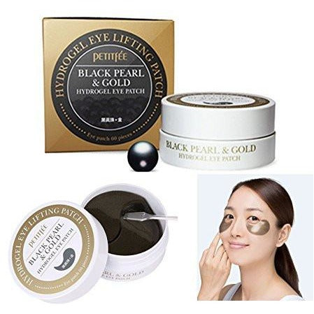 Petitfee Black Pearl & Gold Hydrogel Eye Patch (60 pieces)