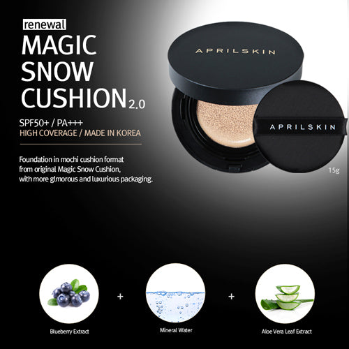April Skin Magic Snow Cushion Black SPF50+ (15g)