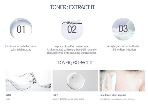 Toner; Extract It 180 ml
