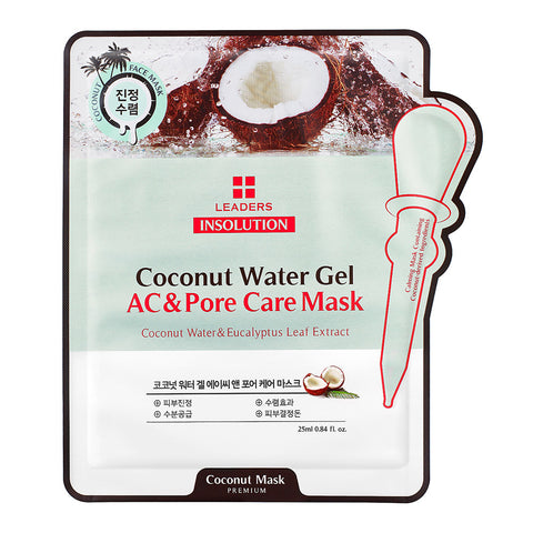 Leaders Premium Insolution Coconut Water Gel AC & Pore Care Mask