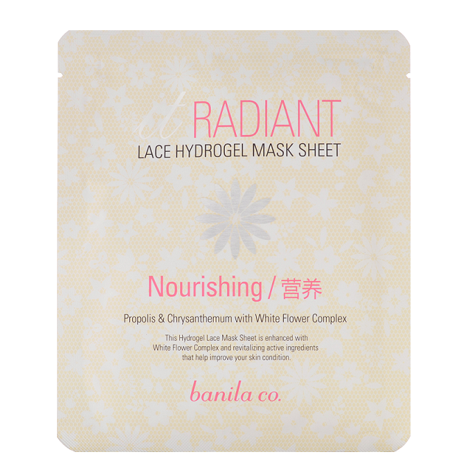 Banila Co It Radiant Lace Hydrogel Mask Sheet (Nourishing) 30g