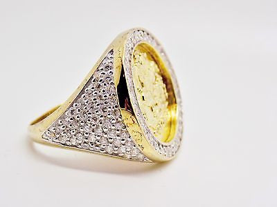 MENS ICED OUT PREMIUM St. George Ring 14K GOLD PLATED 925 MICRO PAVE CZ 306