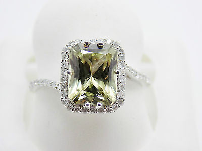 2.98 Ct. Radiant Cut Zultanite® & .22 Ct Diamond Ring 14k Solid Gold NWT RA02186