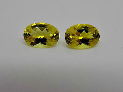 Lot of 2 Canary Yellow Tourmaline Oval Loose Gemstone 7x5mm 1.5 Cttw Top NEW 710