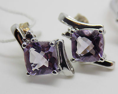 6.2 Ct Amethyst Jewelry Set - Ring Pendant Earrings - Sterling Silver NWT 628