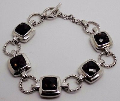 15 Carat Smokey Quartz Sterling Silver Bracelet 22 grams -  NEW