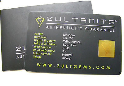 1.04 Ct RARE Zultanite Natural Color-Change Loose Gem 13.5x3mm Cert of Auth 107
