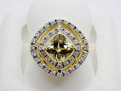 1.24 Ct Cushion Cut Zultanite® .20 Ct Diamond Ring 14k Solid Gold NWT YG RA01477