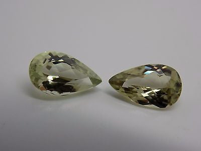 SOLD OUT - Zultanite Natural Loose Gems 10x6mm Pear Cut Pair (2) 2.93 CTW Cert of Auth C009