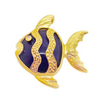 Lavender Jade Fish Pendant Gold Plated Sterling Silver Natural Diamond NEW 173