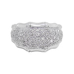 .50 Cttw Diamond Pave Cluster Ring W/bamboo Edging 9k WG NWOT