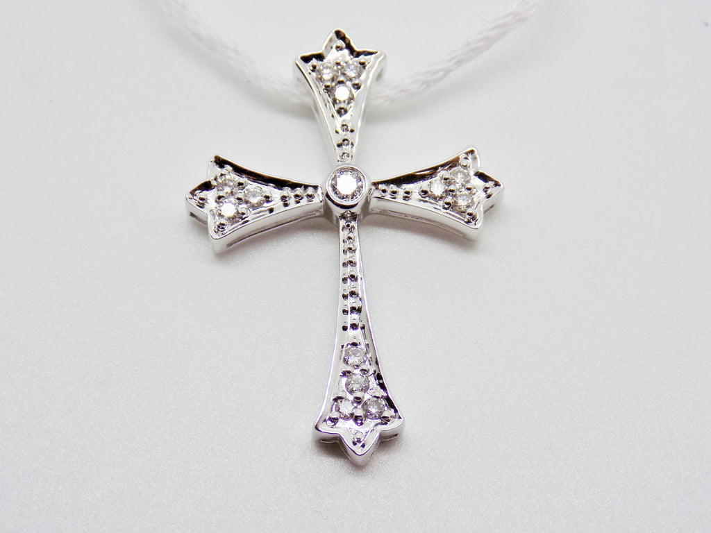 18k solid gold cross pendant 20 ct natural diamond celtic design 18k solid gold cross pendant 20 ct natural diamond celtic design new 184 audiocablefo
