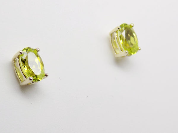 .90 Ct. Canary Tourmaline Stud Earrings in 10k Solid Gold