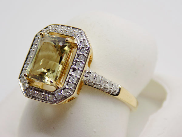 SOLD 1.89 Ct. Cushion Cut Zultanite® .26 Ct. Diamond Ring 14k Solid Gold RA02957