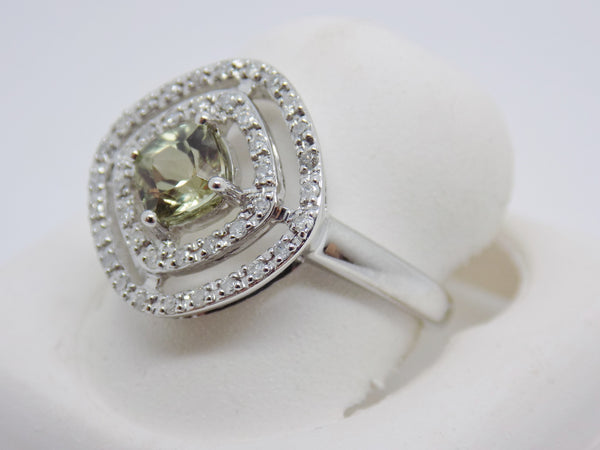 1.24 Ct Cushion Cut Zultanite® .20 Ct Diamond Ring 14k Solid Gold NWT WG RA01477
