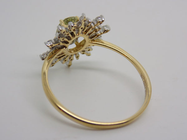 1.16 Ct. Zultanite & Diamond Ring 14k Solid Gold NWT Rare Natural Sz 8 RA00406