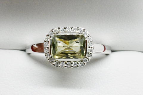 1.05 Ct Cushion Cut Zultanite® & .13 Ct Diamond Halo Ring 14k Solid Gold RA00099