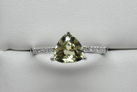 1.3 Ct. Zultanite & .06 Ct. Diamond Ring 14k Solid Gold NWT Rare & Natural
