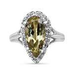2.43 Ct Pear Cut Zultanite® & .25 Ct Diamond Ring Raised Set 14k BR03114