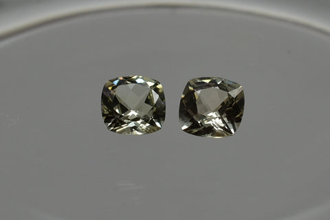 SOLD OUT Zultanite Natural Loose Gemstone Pair - 5mm Cushion 1.03 cttw Cert of Auth B037