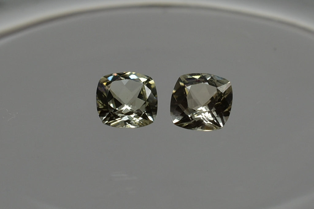 SOLD OUT 0.88 Cttw Zultanite Natural Loose Gemstone Pair - 5mm Cushion Cert of Auth B037