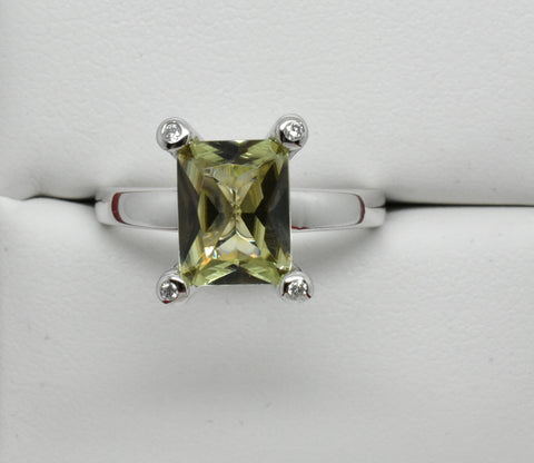 2.35 Ct. Natural Zultanite & .12 Ct. Diamond Solitaire Style Ring 14k Solid Gold Cert Of Auth Dr0294